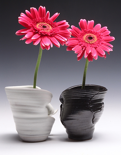 Double Ikebana Pot