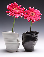 Double Ikebana Pot by Jared Jaffe (Ceramic Vases)