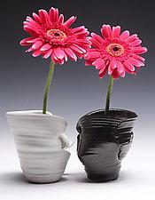 Double Ikebana Pot by Jared Jaffe (Ceramic Vases)