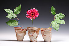 Triple Ikebana by Jared Jaffe (Ceramic Vases)