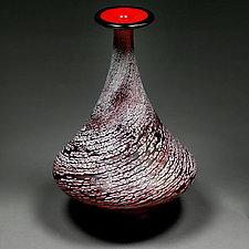 Scarlet Spiral by Eric Bladholm (Art Glass Vessel)