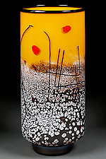 Stormy Staccato by Eric Bladholm (Art Glass Vase)