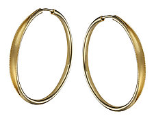 Hollow-Formed Hoops by Ayesha Mayadas (Gold Earrings)
