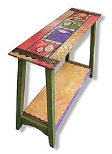 Bombay Entry Table by Wendy Grossman (Wood Console Table)