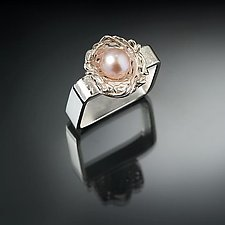 Nesting Blossom Ring by Chi Cheng Lee (Silver & Pearl Ring)