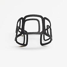 Square Cuff Bracelet by Melissa Stiles (Steel Bracelet)