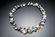 Interwoven Squares All Around by Suzanne Schwartz (Gold & Silver Necklace)