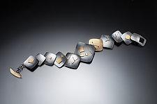 Interwoven Squares Bracelet by Suzanne Schwartz (Gold & Silver Bracelet)