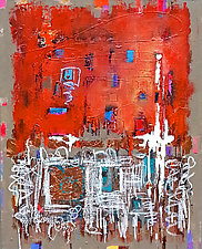 No Motive by LeslieAnn Butler (Mixed-Media Painting)