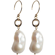Zoe Earring by Tracy Arrington (Gold, Silver & Pearl Earrings)