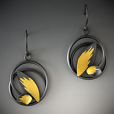 Early Spring Earrings by Judith Neugebauer (Gold & Silver Earrings)