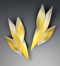 Bamboo Earrings by Judith Neugebauer (Gold & Silver Earrings)