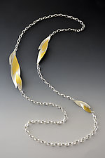 Cascading Bamboo Necklace by Judith Neugebauer (Gold & Silver Necklace)