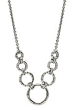 Silver Mini Gradient Necklace by Jodi Brownstein (Silver Necklace)