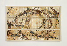 Golden Spiral by Kristi Sloniger (Ceramic Wall Sculpture)