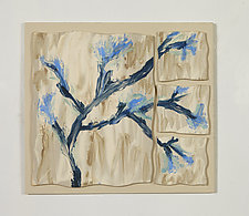 Blue Branches by Kristi Sloniger (Ceramic Wall Sculpture)