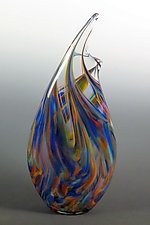 Rainbow Wave Vase by Mark Rosenbaum (Art Glass Vase)