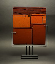 Red in Between by Vicky Kokolski and Meg Branzetti (Art Glass Sculpture)