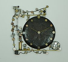 Whirled Currencies by Mary Ann Owen and Malcolm  Owen (Metal Clock)