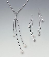 Soft Curve Twig Set by Lonna Keller (Silver & Pearl Jewelry)