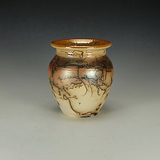 Horse Hair Pottery Jar by Lance Timco (Ceramic Vessel)