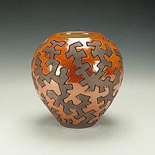 Raku Puzzle Pottery by Lance Timco (Ceramic Vessel)