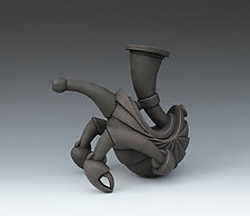 Critter with Crustacean Claws: Orphaned Teapot by Gerard Ferrari (Ceramic Sculpture)