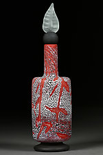 Coveted Crimson by Eric Bladholm (Art Glass Bottle)