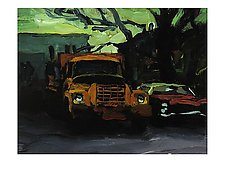 In the Back Lot by Jeff Darrow (Acrylic Painting)