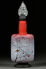 Contemporary Crimson II by Eric Bladholm (Art Glass Bottle)
