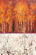 The Oneness of the Aspens by Ritch Gaiti (Oil Painting)