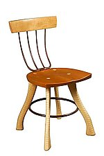 Pitchfork Side Chair by Brad Smith (Wood Chairs)