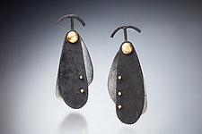 Swinging Earring by Nina Mann (Gold, Silver & Steel Earrings)
