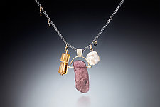 Gorgeous Necklace by Nina Mann (Gold, Silver & Stone Necklace)