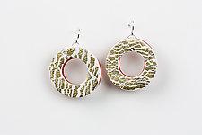 Nikki Gold Earring by Klara Borbas (Polymer Clay Earrings)