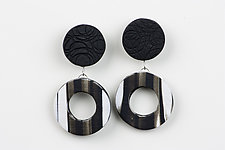 Nikki Earring in Black by Klara Borbas (Polymer Clay Earrings)