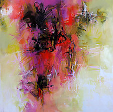 Floral Abstraction by Debora  Stewart (Acrylic Painting)