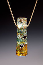 Opal to Amber 3 Hole Bead by Carol Martin (Art Glass Necklace)