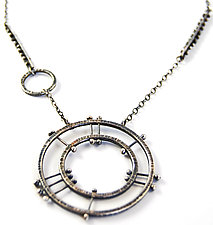 Double Circle Radial Necklace by Nikki Nation (Silver Necklace)