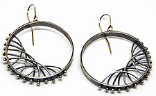 Diagonal Arc Earrings by Nikki Nation (Silver Earrings)