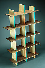 90 lb. Bookshelf by Todd  Bradlee (Wood Bookshelf)