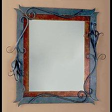 Seed Pod Mirror by Rachel Miller (Metal Mirror)