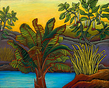 Tropical Yellow by Jane Aukshunas (Pastel Painting)