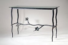 Lotus Console Table by Rachel Miller (Metal Console Table)