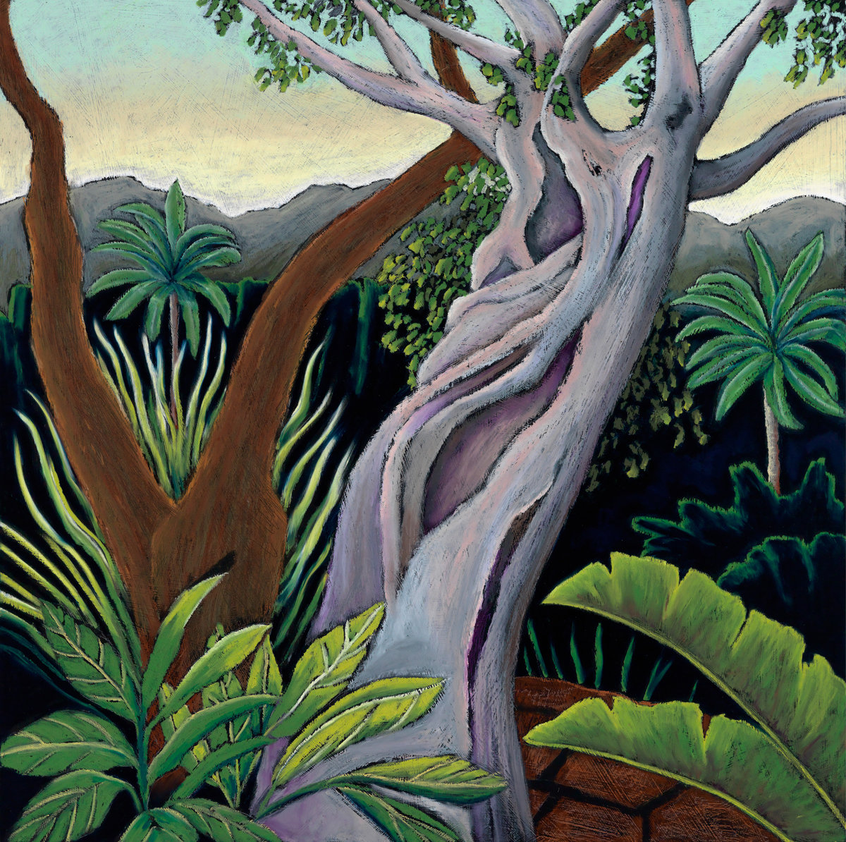 Jungle Trees By Jane Aukshunas Pastel Painting Artful Home