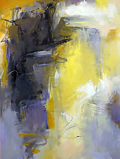 Yellow Abstraction by Debora  Stewart (Acrylic Painting)