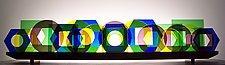 Windows by Bernie Huebner and Lucie Boucher (Art Glass Sculpture)