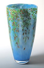 Spring Wisteria Vase by Mark Rosenbaum (Art Glass Vase)