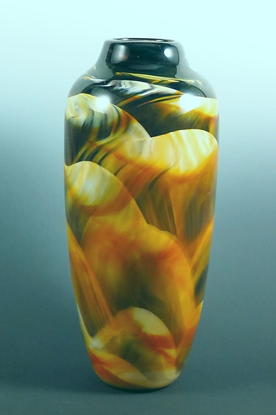 Amber, Black & White Dreamscape Vase