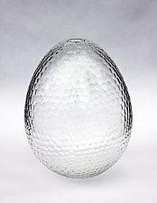 Battuto Egg Vase by Nanda Soderberg (Art Glass Vase)